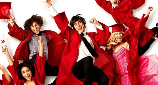 Ashley Tisdale with High School Musical co-stars