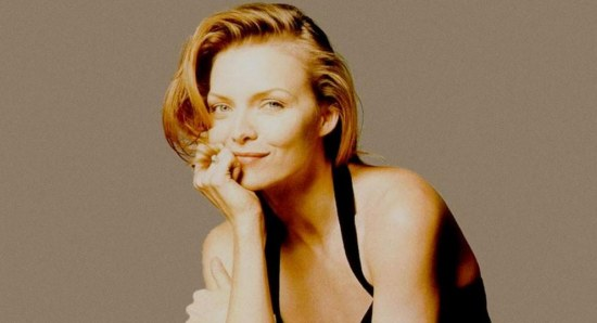 Michelle Pfeiffer looking sexy and mischievous