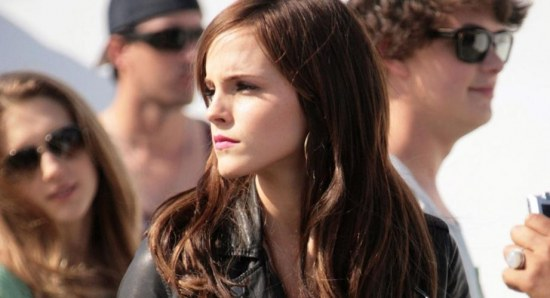 Emma Watson on the set of The Bling Ring