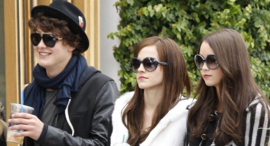 The cast of 'The Bling Ring' shooting in LA