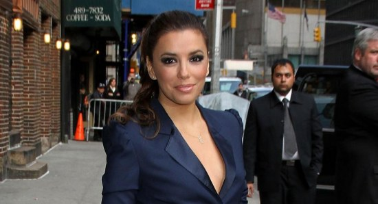 Eva Longoria looking stunning in blue outfit