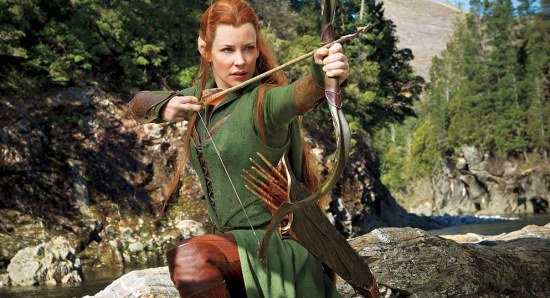 Evangeline Lilly as Tauriel in The Hobbit