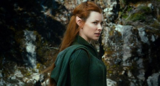 Evangeline Lilly plays Tauriel in The Hobbit