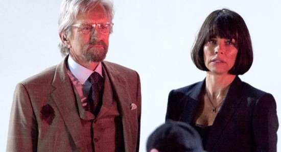 Evangeline Lilly with Michael Douglas in Ant-Man