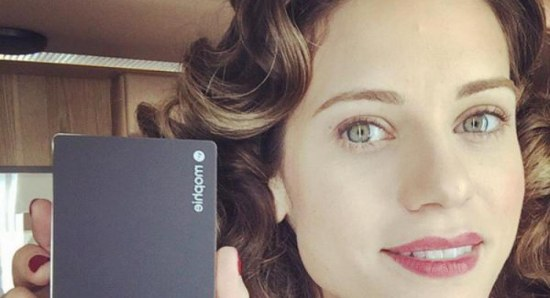 Lyndsy Fonseca on the set of Agent Carter
