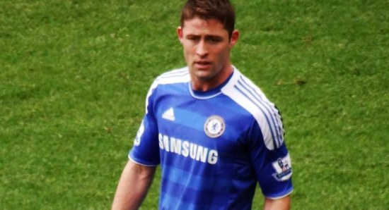 Gary Cahill out on the field