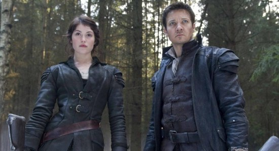Gemma Arterton with Jeremy Renner in Hansel and Gretel Witch Hunters
