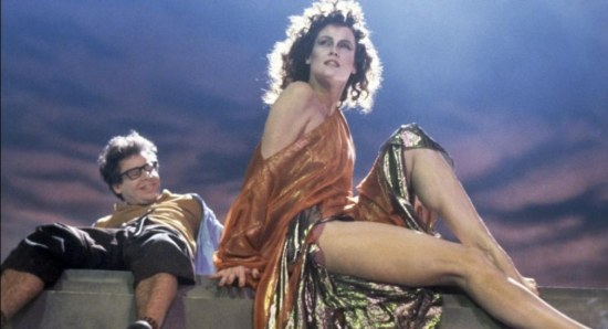 Sigourney Weaver and Rick Moranis in Ghostbusters