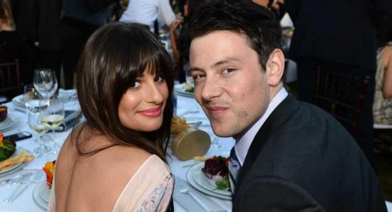 Lea Michele with Cory Monteith