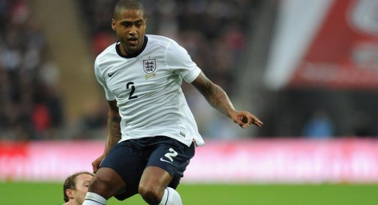 Glen Johnson playing for England