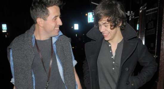 Harry Styles with Nick Grimshaw