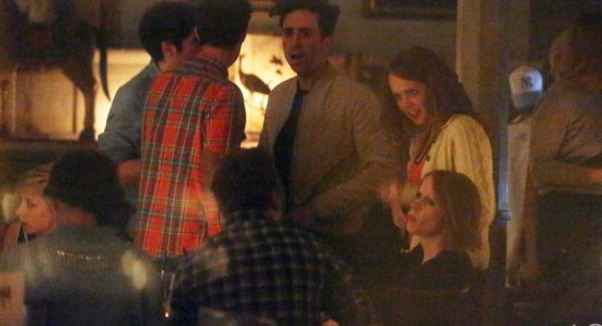Nick Grimshaw out partying