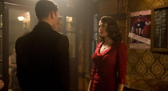 Hayley Atwell with Chris Evans in Captain America: The First Avenger