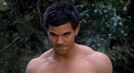 Taylor Lautner without shirt showing abs
