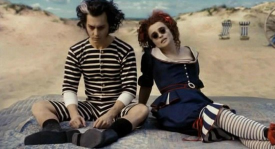 Helena Bonham Carter doing her acting thing with Johnny Depp