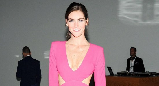 Hilary Rhoda looking sensational in pink dress