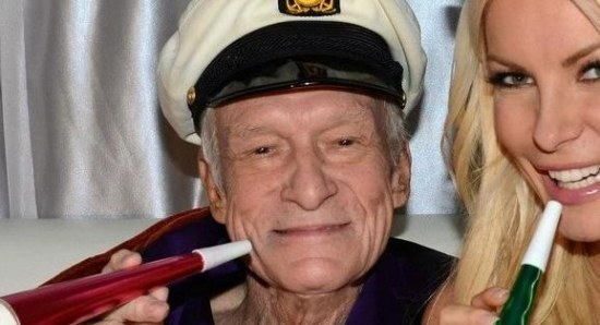 Hugh Hefner with that permanent smile