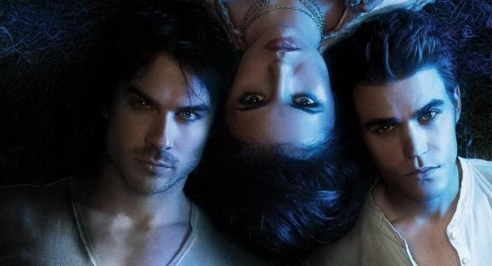 Ian Somerhalder with his The Vampire Diaries co-stars