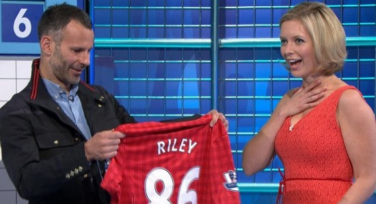 Rachel Riley is a big football fan