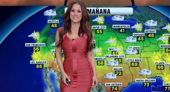 Jackie Guerrido giving the weather