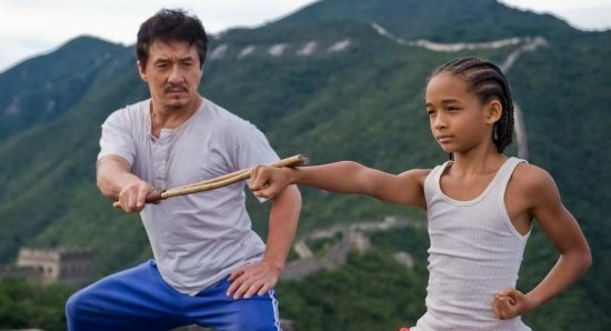 Jaden Smith and Jackie Chan in The Karate Kid