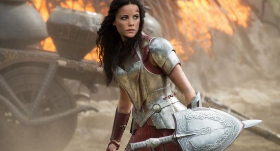 Jaimie Alexander doing her Lady Sif thing