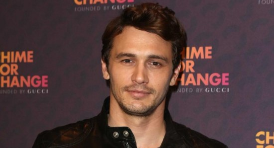 James Franco looking handsome and focused