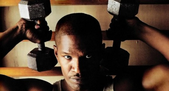 Jamie Foxx looking 'buff' working out