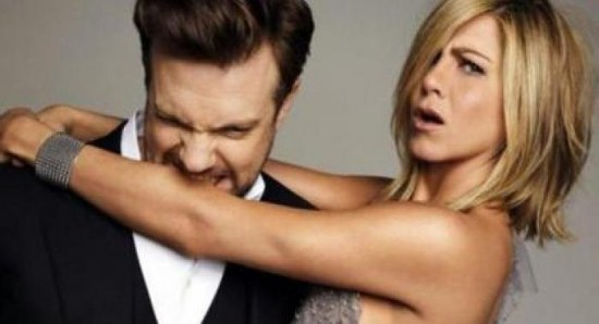 Jennifer Aniston with co-star We're the Millers
