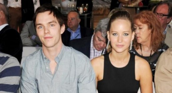 Jennifer Lawrence and Nicholas Hoult at an event in Monaco