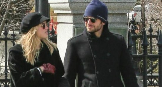 Bradley Cooper with Suki Waterhouse