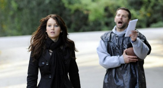 Jennifer Lawrence acting with Bradley Cooper