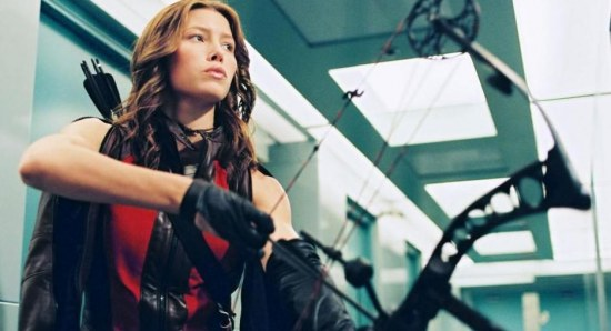 Jessica Biel doing her acting thing