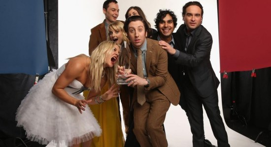 Jim Parsons with his The Big Bang Theory co-stars