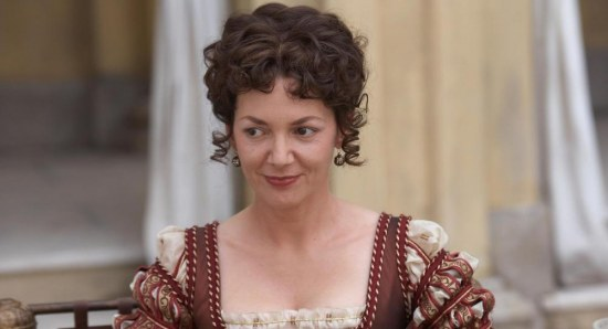 Joanne Whalley in character for