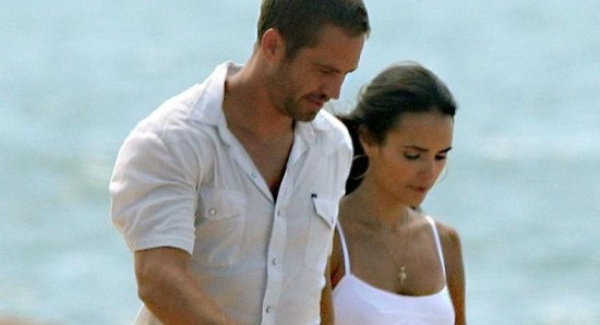 Jordana Brewster with Paul Walker