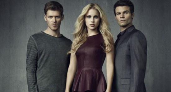 Joseph Morgan and Daniel Gillies with Claire Holt