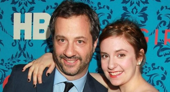 Judd Apatow with Lena Dunham at an event for 'Girls'