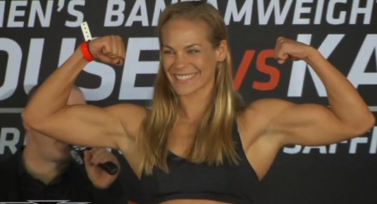 Julie Kedzie looking 'buff' and sexy at weigh-in