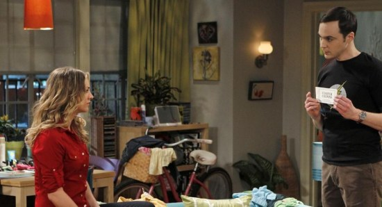 Kaley Cuoco in a scene from 'The Big Bang Theory'
