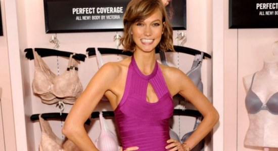 Karlie Kloss flashes a smile