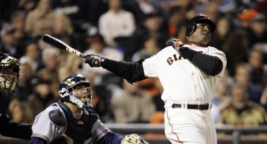 Barry Bonds knocks it out the park