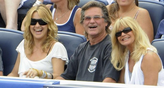 Kate Hudson with Kurt Russell and Goldie Hawn