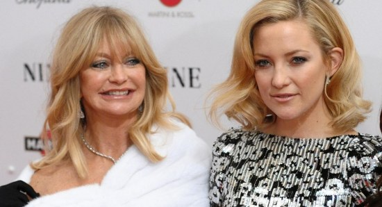 Kate Hudson with mother Goldie Hawn