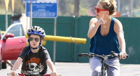 Kate Hudson with her oldest son