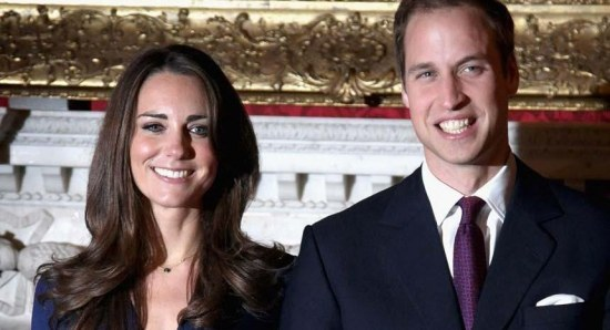 Prince William and Kate Middleton during a tour