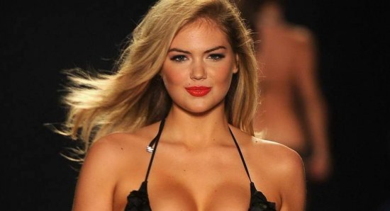 Kate Upton on the catwalk