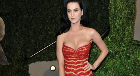 Katy Perry looking glamorous in red dress