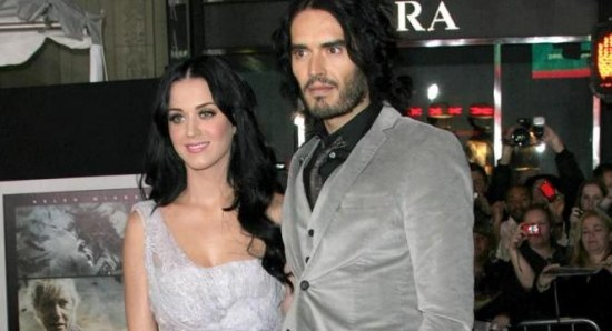 Russell Brand and Katy Perry at Tempest premiere