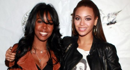 Kelly Rowland with good friend Beyonce